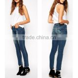 2015 New Style Fashion Women Wide Leg Jeans Light Blue Ladies Bell Bottom Pants For Female Cowboy