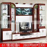 Modern glass living room tv cabinet wall units