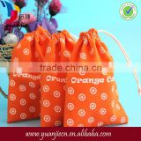 Wholesale custom fancy Chirstmas favor cotton small candy bag/small gift bag
