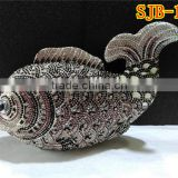 Newest funny fish shape crystal handbag with rhinestone being so attractive on hand for evening party