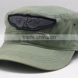 Star Wing Army Green Style Hat 100% Cotton Casual Dome Cap