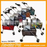 Factory Price Customized Four Wheels Ventilating Dog Cat Trolleys Pet Strollers, Pet Outdoor Carriers