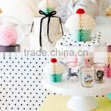 PAPER CUPCAKE LARGE Tissue Paper Hanging Decorations wedding decoration Pink Honeycomb Balls Hanging Decorations