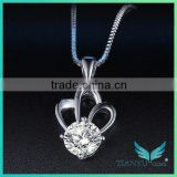 New Style Fashion 925 Sterling Sliver Necklace Flower White Moissantie Diamond Pendants