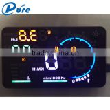 "5.5""large screen and high-definition display car hud auto head up display with obd2 interface plug & play A8"