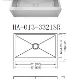 16 Gauge Stainless Steel apron front Sink