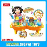 Zhorya Wholesale 2 in 1 play set multi-function baby toys modern dining table play toy set kitchen table play sets