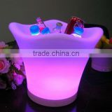mood garden champagne pot/ out door plastic storage container/LED ice bucket/color chaning outdoor planter