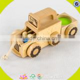 hottest new fashion children wooden toy vehicle hot sale baby wooden toy vehicle W04A157