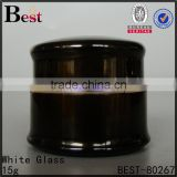 10g 20g 30g 50g metal cosmetic aluminum jar custom black green purple silver red color glass cream jar
