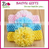 New Fashion Nice Baby Girl Turban Hairband /Lace Flower Baby Elastic Headband/Kids Hair Accessories Flower Lace Headband