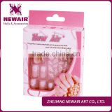 Fashion printing false&fake nail tips set+nail stickers