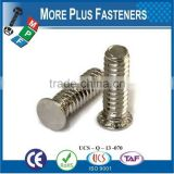Made in Taiwan Stainless Stee or Carbon Steel Flush Head Self Clinching Stud