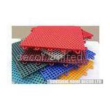 Green Interlocking Indoor / Outdoor Basketball Court Flooring , Removing Floor Tile