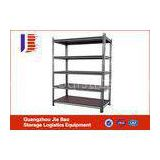 Lightweight Metal Garage Storage Shelving Systems Slotted Angle Steel Shelving