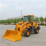 Small Bucket Wheel Loader With Snow Blower