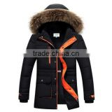 New Brand Mens Down Coat Fashion Warm Cotton Padded Coat With Fur Hood Parkas Winter Jacket Men Overcoat Outerwear