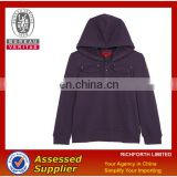 Purple zipper sweat jacket with pockets
