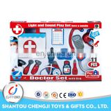 Perschool toys plastic pretend play doctor set with light and sound