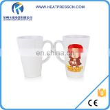 Top Grade 17oz ceramic sublimation printing conical white mug
