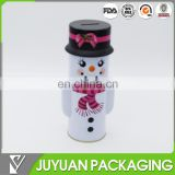 cute money tin box for save money /money tin can of snowman