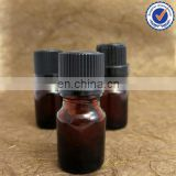 Amber Empty Glass Bottle for Essential Oils with Plastic Threaded Cover