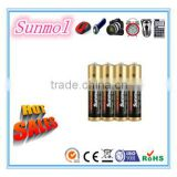 Zn Mn O2 Type and AAA Size 1.5v aaa non rechargeable alkaline battery                                                                         Quality Choice