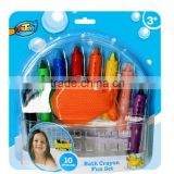 8ct bath crayons with fish sponge ARTOYS A0070