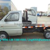 ChangAn mini garbage truck, 2 ton capacity hook lift garbage truck with 53HP petrol engine