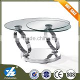 Modern furniture stainless steel glass coffee table                                                                         Quality Choice