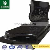 Impala black granite book shape headstone,monuments