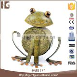 New products metal indoor decoration 18x10x18CMH HG6913 funny animal crafts with low price
