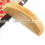 Natural Fine Tooth Peach Wood No-static Massage Hair Comb
