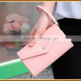 New Arrival Mixed Colors Crown Cute Leather Lady Clutch Purse Women Walllet With Strap
