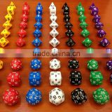 TRPG Run ball dice/[ten capsules seven colors] dungeons and Dragons Warcraft game dice/Dice Type polyhedral dice/children gifts                                                                         Quality Choice