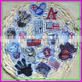China Factory wholesale New one Mixed Package Hand Sew-on Jeans Embroideried Pink Woven Letter Patches