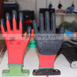 natural latex safety working gloves with soft and comfortable used garden and industrial work gloves