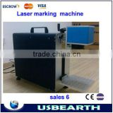 High quality !!! portable laser marking machine small fiber laser marking machine price low for Metal,PVC,keyboard ect