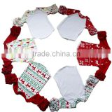wholesale Christmas design icing ruffle raglan kids raglan T-shirt                                                                         Quality Choice