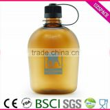 wholesale 500ml/750ml/1000ml tritan pc military bottle in china plastic bottle for outdoor sports drinking bottle
