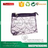 China purple travel lace zipper bag