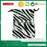 mixed color zebra cosmetic velvet pouch wholesale/gifts velvet pouch