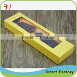 hard paper display box with PVC custom gift paper box with window