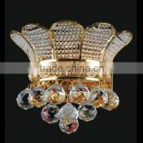 Empire wall sconce brilliant cut crystal hotel room wall light