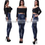 New Design Print Blue denim jean pattern Sexy Jean Skinny Pants Indian sex girls sexy latex girls pictures legging