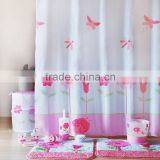Romantic bathroom set in match design, Secret garden bath set for girls, shower curtain/bathmat set/bath accessories set