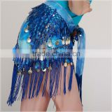 Sexy fashion Tassel And Coins Belly Dance Tribal Hip Scarf                                                                         Quality Choice