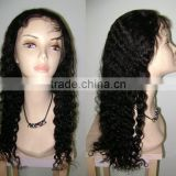 100% Indian remy deep wave long cheap full lace wigs