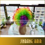 New 2016 High Quality Colorful Christmas Cosplay Hairs Clown Funny synthetic Wig Football Style