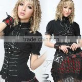 Cotton Black Long Sleeves Bow Cotton Lolita Blouse 81092